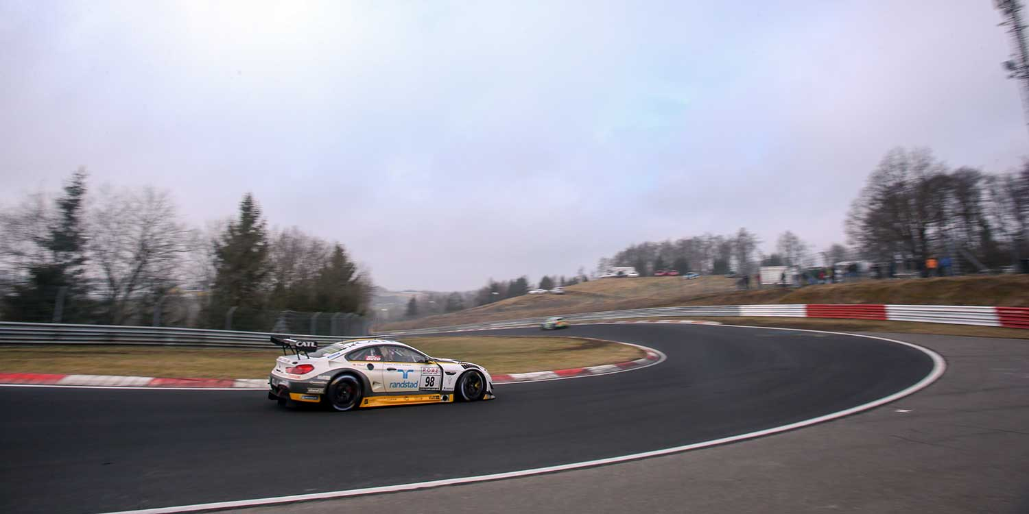VLN ADAC Westfalenfahrt, Lauf 1, Nürburgring, Deutschland. Nick Catsburg, Richard Westbrook, John Edwards, Rowe Racing, BMW M6 GT3.